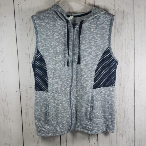 Ideology Jackets & Blazers - Ideology Hooded Vest Sweater Gray XL